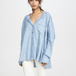 Free People Tops - ⬇️Free People | Keep It Simple Linen Chambray top